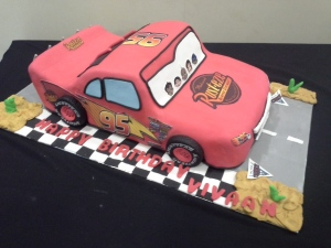 3D fondant sculpted cake