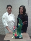 Sugar show pieces with Chef Aarti Thapa
