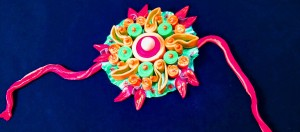 Colorful edible medium Rakhi