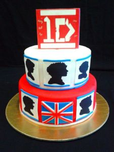 Minimilastic style for a One D cake theme