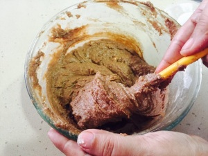 Fold in the dry ingredients