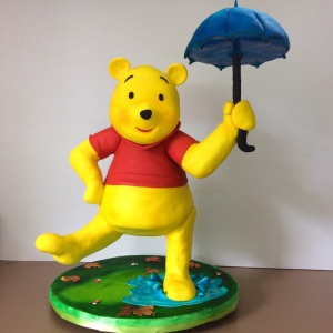 Winnie the pooh by sugarcraft India....structural 3d cake.