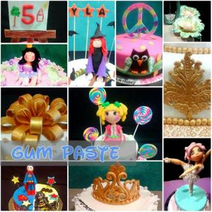 Gum paste designs on cakes